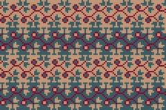 Naadloos geometrisch patroon in de bohostijl Slavisch motief Traditionele nationale motieven van de Slavische volkeren Stock Foto