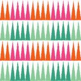 Naadloos Geometrisch Patroon De textuur van de vierkanten en de kronen vector illustratie