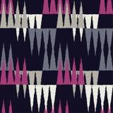 Naadloos Geometrisch Patroon De textuur van de vierkanten en de kronen royalty-vrije illustratie