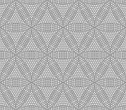 Naadloos geometrisch patroon in de vorm van abstracte bloemen, Stock Fotografie