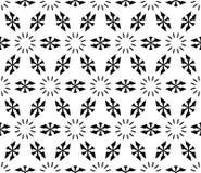 Naadloos geometrisch patroon, eenvoudige bloemencijfers, sneeuwvormen Stock Afbeeldingen