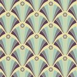 Naadloos geometrisch patroon in geel-violette kleuren Royalty-vrije Stock Foto's