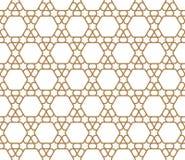Naadloos geometrisch patroon in gouden geometrische lijnen royalty-vrije illustratie