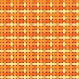 Naadloos Geometrisch Patroon Lapwerktextuur in warme, heldere, oranje kleuren Het geometrische patroon weven stock illustratie