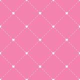 Naadloos geometrisch patroon met harten Het herhalen van textuur Vector Royalty-vrije Stock Foto's