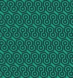 Naadloos geometrisch patroon met hexagonale vormen - vectoreps8 Royalty-vrije Stock Foto's