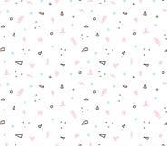 Naadloos geometrisch patroon met kleurrijke elementen, vectorachtergrond Stock Foto's