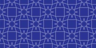 Naadloos geometrisch patroon met sterren Royalty-vrije Stock Afbeelding