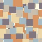 Naadloos geometrisch patroon met vierkanten Stock Foto's