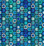 Naadloos geometrisch patroon met zeshoeken vector illustratie