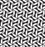 Naadloos geometrisch patroon in op kunstontwerp. Stock Foto's
