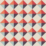 Naadloos Geometrisch Patroon Retro diamantachtergrond Stock Afbeelding