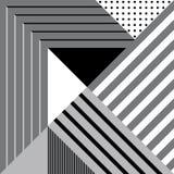 Naadloos geometrisch patroon in retro stijl Royalty-vrije Stock Foto's