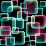 Naadloos geometrisch patroon in roze en blauwe kleuren Royalty-vrije Stock Foto