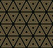 Naadloos geometrisch patroon van concentrische driehoeken Stock Foto's