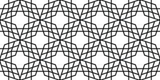 Naadloos geometrisch patroon van de rechte lijnen Royalty-vrije Stock Foto's