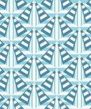 Naadloos geometrisch patroon van diverse elementen Beweging van vormen en kleuren vector illustratie