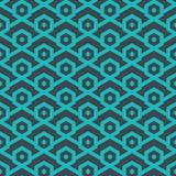 Naadloos geometrisch patroon van lijnen en zeshoeken - vectoreps8 Stock Foto's