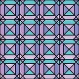 Naadloos geometrisch patroon van pastelkleurenvierkanten met slagen Royalty-vrije Stock Foto's