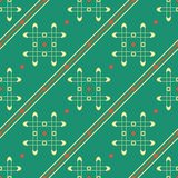Naadloos geometrisch patroon van traliewerk, punten en diagonale lijnen Stock Foto
