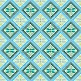 Naadloos geometrisch patroon, zwarte en groene diamanten Royalty-vrije Stock Foto's
