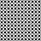 Naadloos geometrisch schaakpatroon van cirkels Contrastpatroon voor stof of kleding Vector illustratie Royalty-vrije Stock Foto