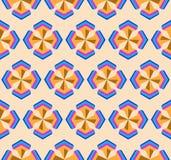 Naadloos geometrisch symmetrie 3d abstract patroon Stock Fotografie