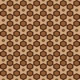 Naadloos geometrisch van het arabesque Arabisch oosters patroon vector traditioneel etnisch ontwerp als achtergrond met bruine ze royalty-vrije illustratie