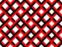 Naadloos Geometrisch Zwart en Rood Patroon Stock Afbeeldingen