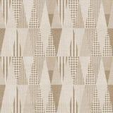Naadloos geometrisch zwart-wit patroon Stock Fotografie