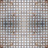 Naadloos geregeld ijzer Textuur, achtergrond, wijnoogst Royalty-vrije Stock Afbeeldingen