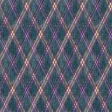 Naadloos geruit patroon, donkerblauwe achtergrond Stock Afbeeldingen