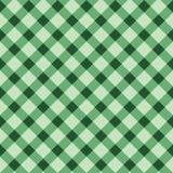 Naadloos geruit patroon in groene kleuren royalty-vrije illustratie