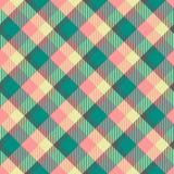 Naadloos geruit Schots wollen stof vectorpatroon vector illustratie