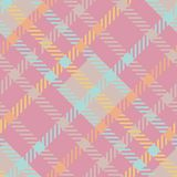 Naadloos geruit Schots wollen stof vectorpatroon het gestreepte roze patroon van de pastelkleurplaid Stock Foto