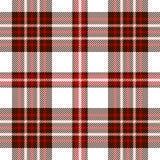 Naadloos geruit Schots wollen stofpatroon in donkere bruin, rood, roze en wit vector illustratie