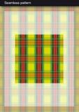 Naadloos geruite Schotse wollen stofpatroon Royalty-vrije Stock Fotografie