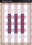 Naadloos geruite Schotse wollen stofpatroon Royalty-vrije Stock Afbeelding