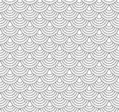 Naadloos gestippeld patroon met halfronde schalen stock illustratie