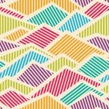 Naadloos Gestreept Geometrisch Patroon Royalty-vrije Stock Fotografie