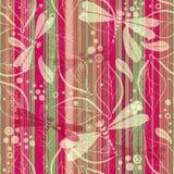 Naadloos gestreept grungy patroon vector illustratie