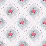 Naadloos gevoelig patroon van boeketten De bloemen van de zomer Bloemen naadloze achtergrond voor textiel of boekdekking, die wal Royalty-vrije Stock Foto's