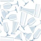 Naadloos glaspatroon in vector Royalty-vrije Stock Foto