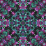 Naadloos glitch van het tegel siermozaïek effect abstract patroon royalty-vrije illustratie