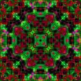 Naadloos glitch van het tegel siermozaïek effect abstract patroon vector illustratie
