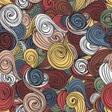 Naadloos golf hand-drawn patroon, golvenachtergrond Stock Fotografie