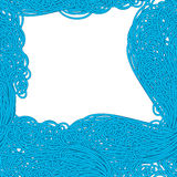 Naadloos golf hand-drawn patroon, golvenachtergrond Kan voor behang worden gebruikt stock illustratie