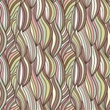 Naadloos golven hand-drawn patroon Stock Foto