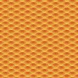 Naadloos golven oranje patroon Royalty-vrije Stock Foto