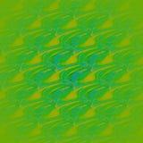 Naadloos golvend patroon groen turkoois diagonaal Stock Foto